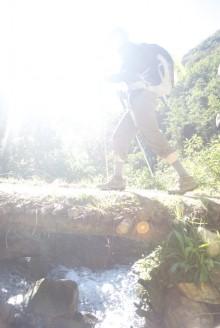 Trail footbridge