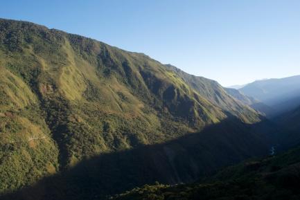 Mountain line, Peru