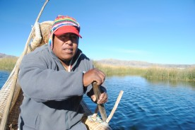 On the way to the reed islands, Lake Titikaka